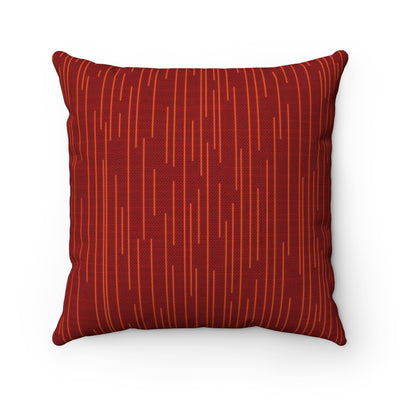 Vermillion Electric Throw Pillow