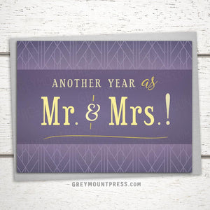 Anniversary Card: Another Year As...