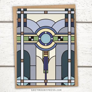 Art Deco Greeting Card: Stained Glass Design