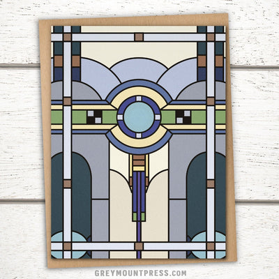 Art deco greeting card for architect