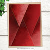 crimson tones greeting card