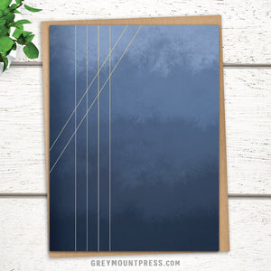 Lux: Moods in Blue-Gray Abstract Greeting Card for Minimalists