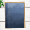 Abstract greeting card for minimalists. Moods in Blue Gray Design.