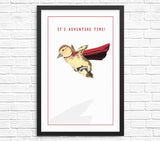 Funny duckling duck wall art print
