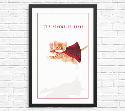 Funny kitten wall art print