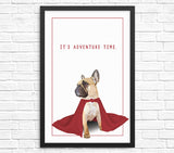 Funny French bulldog wall art print france