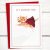 Cat greeting card for friends