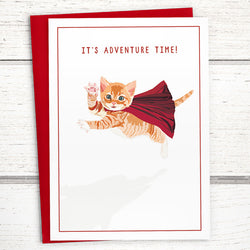 Caped Kitten card