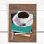 Booklover's Collection: Blank black coffee and books card