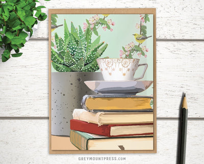 Greeting card for bookworm