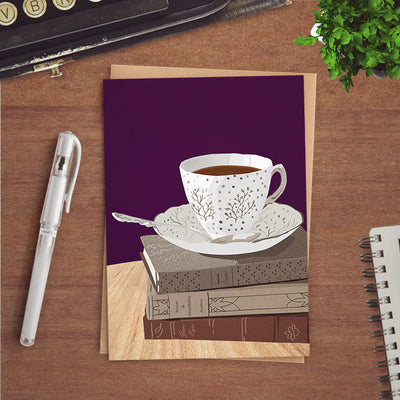 Teacup greeting card for friend