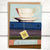 Booklover's Collection: Teacup greeting card with book stack