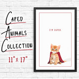 Super animals in capes artwork