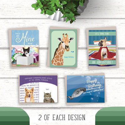 Mixed greeting card packs. Boxed set greeting cards make up of bulk birthday cards and other designs.