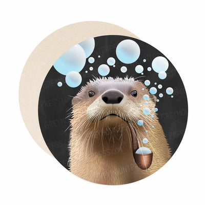 Bubble pipe otter coasters.