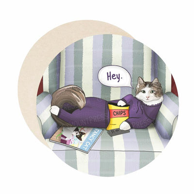 Funny cat bar coasters, great housewarming gift for cat lovers