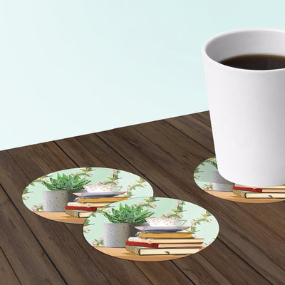 Biblio Teacup Coasters: Bar Coaster 6-Piece Set