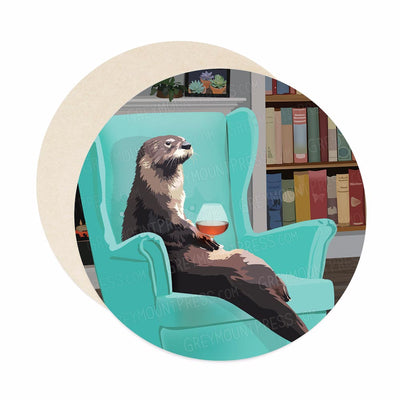 Otter coasters for unique housewarming gift.
