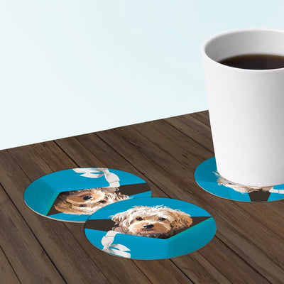 cooper the dog coasters