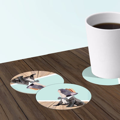 France bulldog coaster set