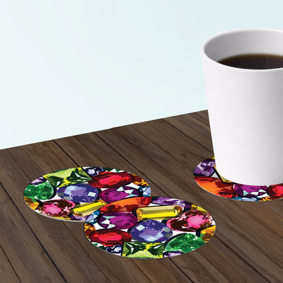 bar coasters with jewel design