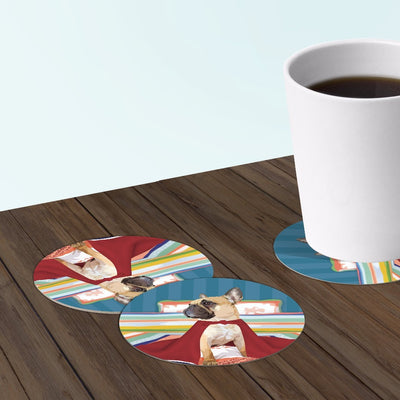 Frenchie french bulldog coasters