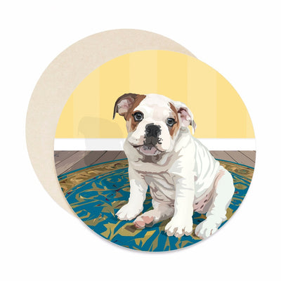 English bulldog coasters. Dog Coasters.