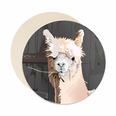 alpaca coaster set