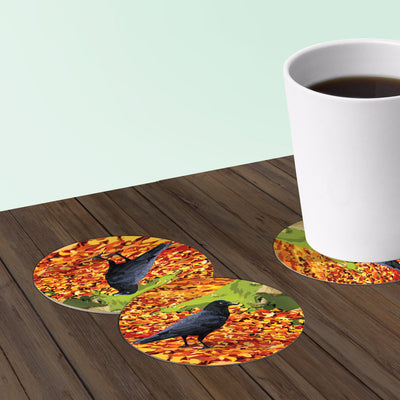 crow coaster set