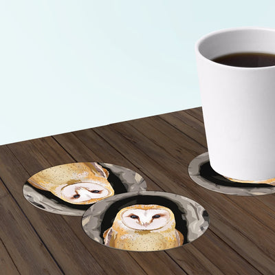 barn owl coasters
