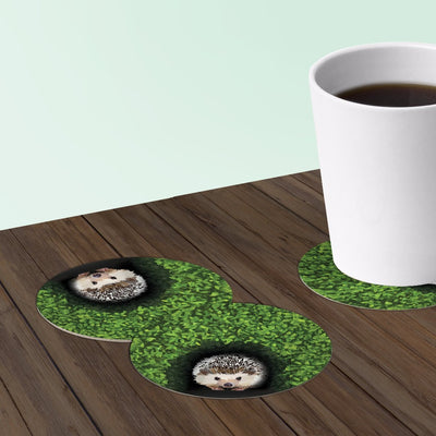 Hedgehog coasters hedgie coaster