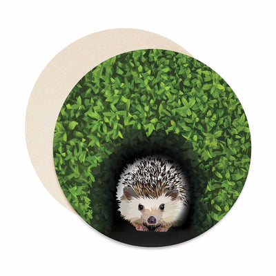 Hedgehog coaster set. Hedgehog coasters.