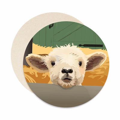lamb coaster set paper bar coasters