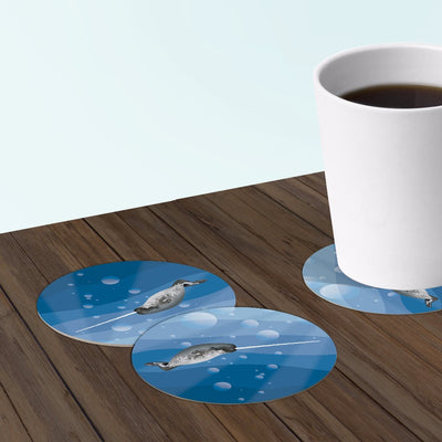 narwhal coaster set bar coasters paper