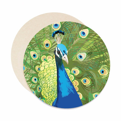 Peacock coasters, unique housewarming gift