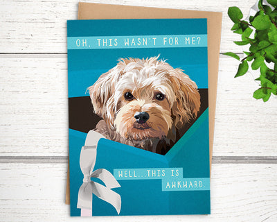 funny dog birthday card for dog lover