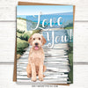 Doodle Card. Dog love card for dog lovers