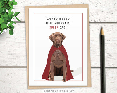 Dog Fathers Day Card with Labrador retriever