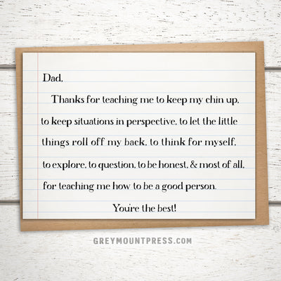 Sentimental Fathers Day Card