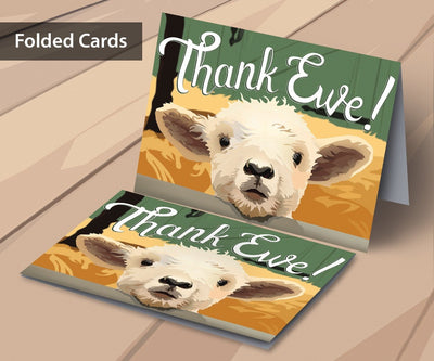 Buyer thank you cards for livestock auctions.