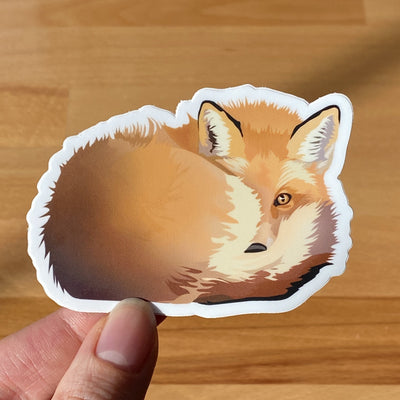 Fox sticker. Fox laptop sticker. Fox water bottle sticker.