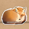 fox laptop sticker