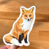 Fox waterbottle sticker