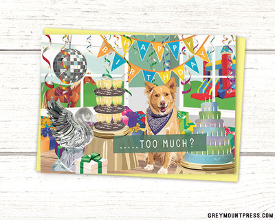 Funny dog birthday card for friends
