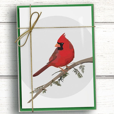 Northern Cardinal Holidays Cards. Non-denominational holiday cards.