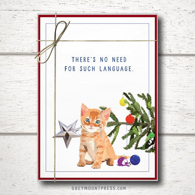 Funny Cat Christmas cards boxed set