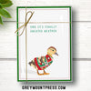 Duck Christmas Card. Funny Holiday Card about Sweater Weather.