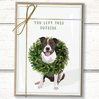 Pitbull Christmas cards holiday cards