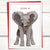 "Holiday: Elephant with mistletoe ""Pucker Up"" Holiday Card"
