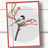 Chickadee bird holiday card set